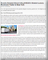 CALLAHEAD Portable Luxury Restroom Trailer Press Release