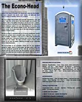 THE ECONO-HEAD PORTA POTTY CONSTRUCTION PORTABLE TOILET
