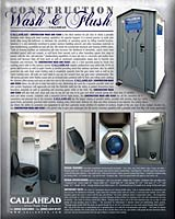 The Construction Wash & Flush Porta Potty
