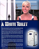 A White Toilet Porta Potty