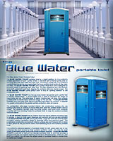 The Blue Water Portable Toilet | Portable Restroom
