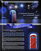 THE CELEBRATION PORTABLE TOILET