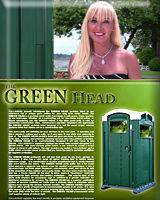 The GREEN HEAD Portable Toilet | Portable Restroom