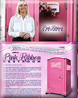 The Pink Ribbon Special Event Portable Toilet