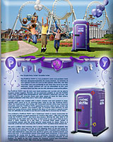 THE PURPLE POTTY PORTABLE RESTROOM