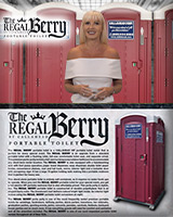 THE REGAL BERRY PORTABLE TOILET / PORTA POTTY