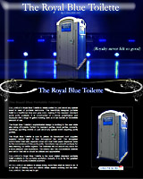 The ROYAL BLUE Special Event Portable Toilet