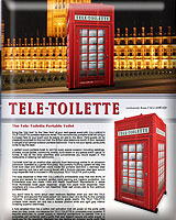 The Tele-Toilette Portable toilet