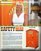 THE SAFETY HEAD CONSTRUCTION PORTABLE TOILET