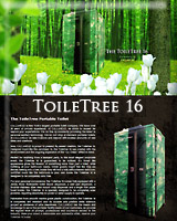 THE TOILETREE 16 PORTABLE RESTROOM/PORTA POTTY