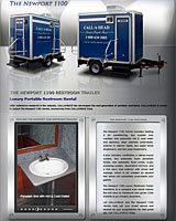 The Newport 1100 Restroom Trailer