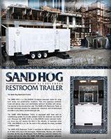 THE SAND HOG RESTROOM TRAILER