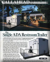 THE SINGLE ADA Restroom Trailer