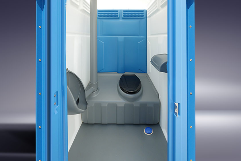 39 The Blue White Construction Flush 39 Portable Toilet By