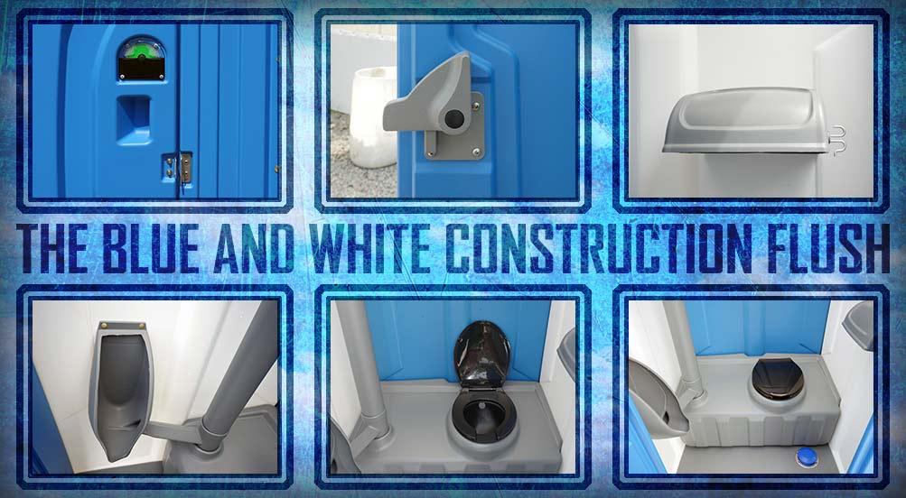 The Blue-Water-Construction-Flush Bathroom Toilet