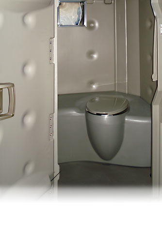 Contractor's Head Porta Potty -- Modern Design!