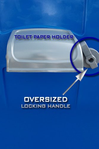 Porta Potty Includes Oversized Locking Handle for use with Work Gloves