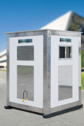 The A25 Portable Security Booth By Callahead 1 800 634 2085