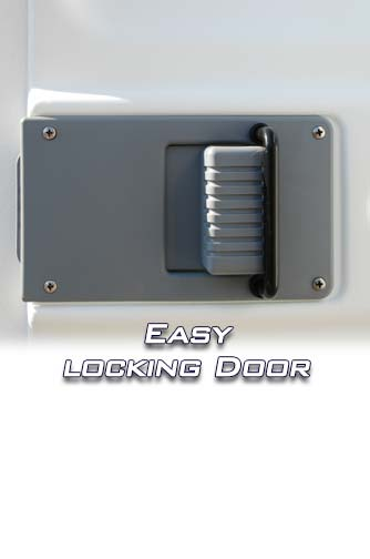 Easy to Use Lock on Door