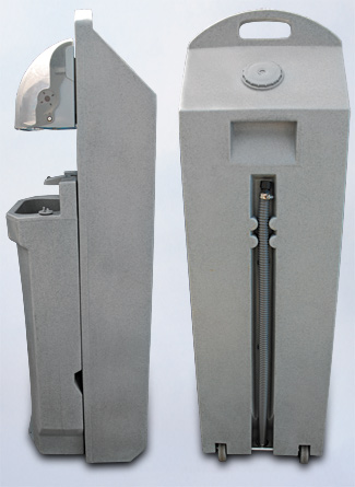 Roller Sink - Side and Back Views