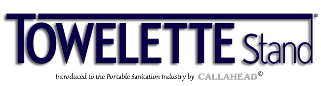 The Towelette Stand - Portable Sanitized Hand Wipes by CALLAHEAD