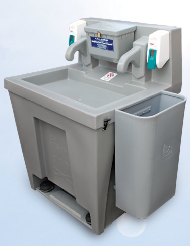 the water basin portable sink unit dual water faucets 14028