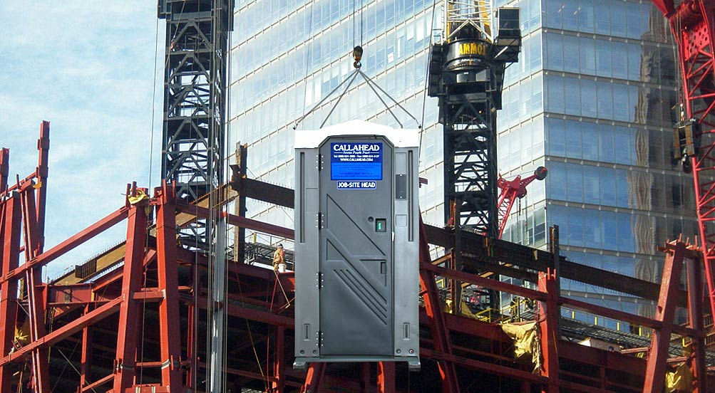 Cable Hoist with Portable Toilet