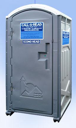 The econo head portable toilet for Porta john rental