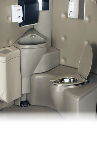 The Full Service Head Flushing Portable Toilet With Sink