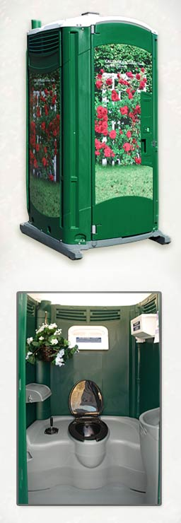 The Garden Head Portable Toilet for Special Events
