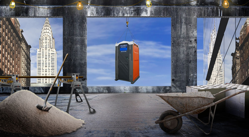 Job Site Portable Toilets : The cable head portable toilet porta potty by
