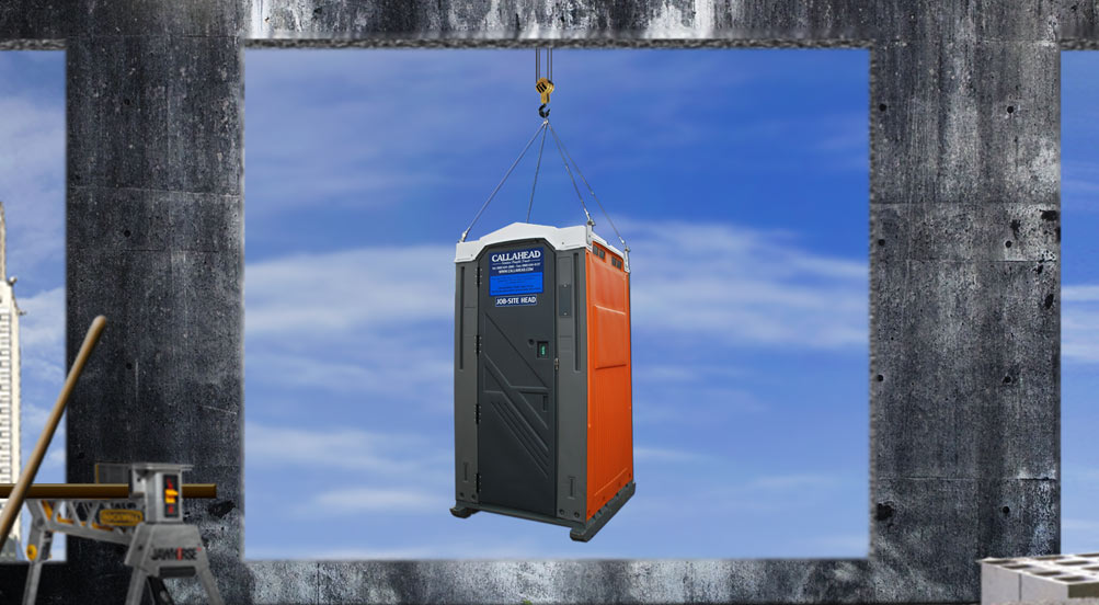Wash and Flush Steel Sling Portable Toilet