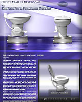 The CONTRACTOR'S Porcelain Toilet System for Office Trailers