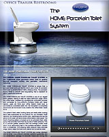 The HOME Porcelain Toilet System for Office Trailers