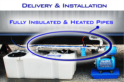 Fully Insulated and Heated Pipes