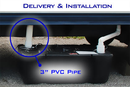 Three Inch PVC Drain Pipe for office Trailer Toilet