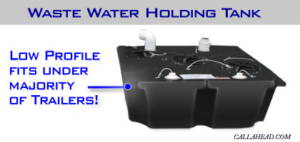 Waste Water Holding Tank has a Low Profile