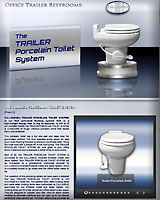 The TRAILER Porcelain Toilet System for Office Trailers