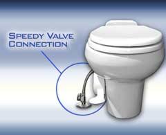 Speedy Valve Connector to Porcelain Toilet