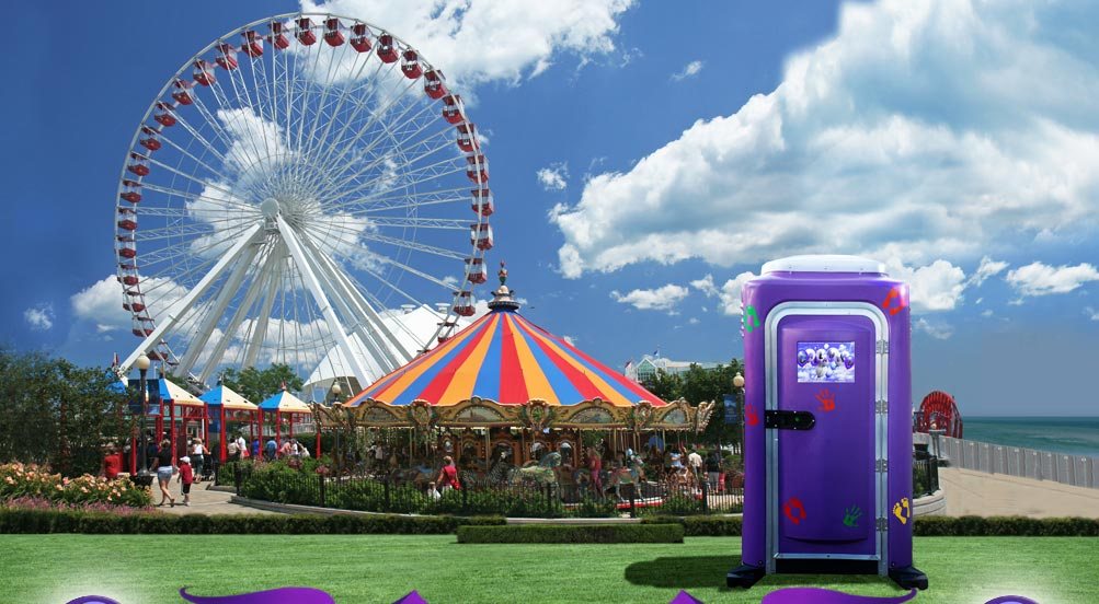 The Purple Potty Portable Toilet Porta Potty By