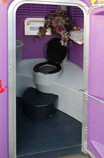 The Purple Potty Portable Restroom.
