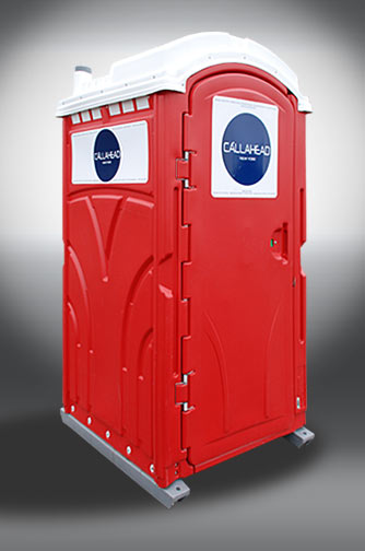 The Red Head Portable Restroom.