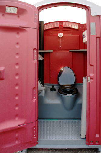 The Regal Berry Portable Toilet - Front View