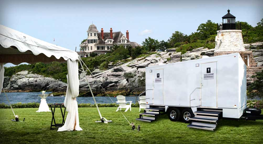 The Castle Hill Luxury Restroom Trailer for Special Events