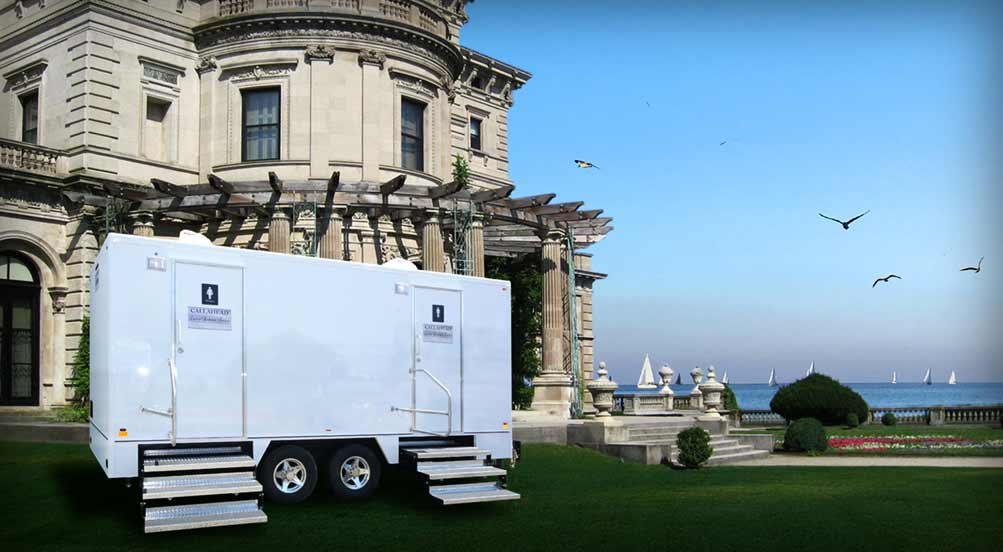 The Castle Hill Luxury Restroom Trailer for Film and Movie Productions
