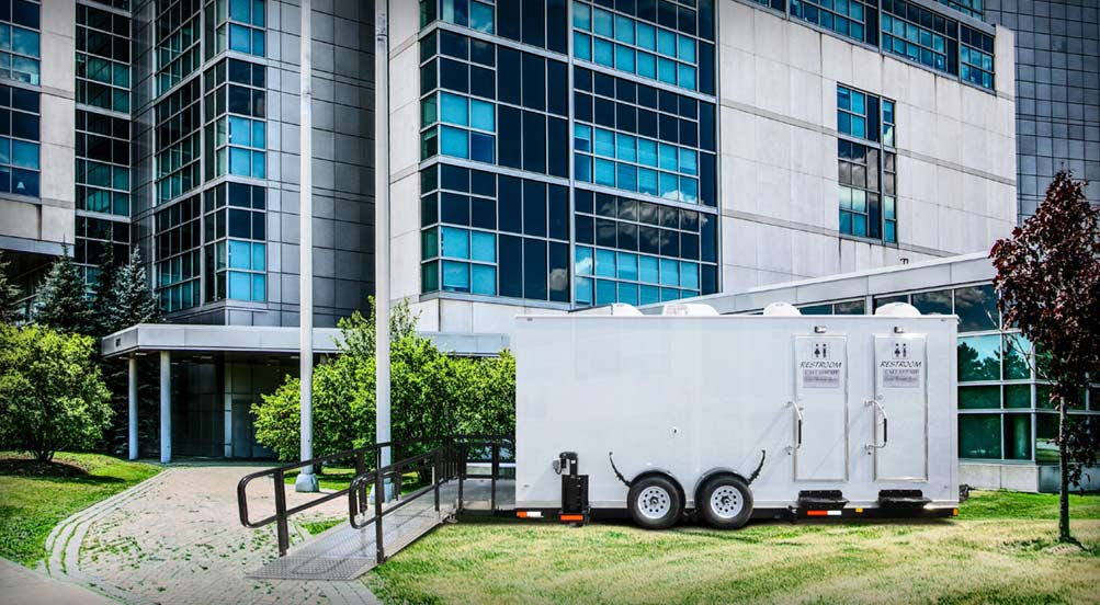 ADA Portable Restroom Trailer