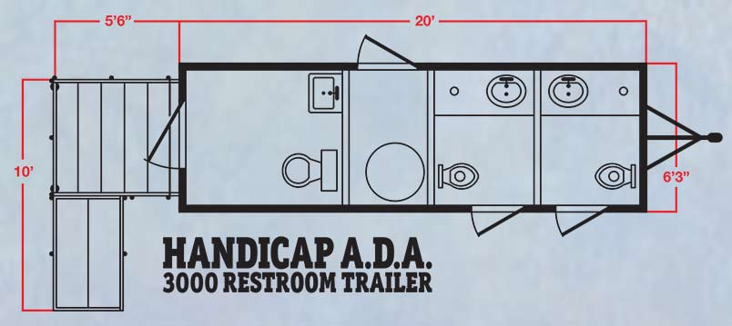 The Handicap ADA 3000 Restroom Trailer by CALLAHEAD 1.800.634.2085 on ada bathroom mirrors, ada home kitchen, ada approved house plans, wheelchair friendly house plans, ada home design, ada accessible house plans, ada home bathrooms, handicapped house plans,