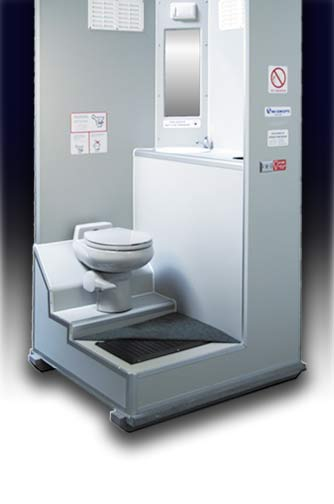 VIP Toilet Inside. Portable Toilet Trailers  The Mobile Comfort Station   Restroom