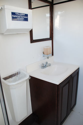 Mobilet Trailer - Fully Equipped Sink with Mirror