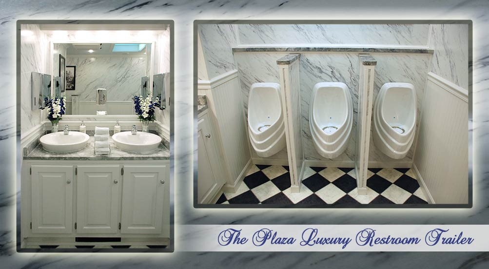 The Plaza Luxury Restroom Trailer Interior by Callahead